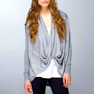 Lululemon Gray Iconic Wrap Sweater Size 4